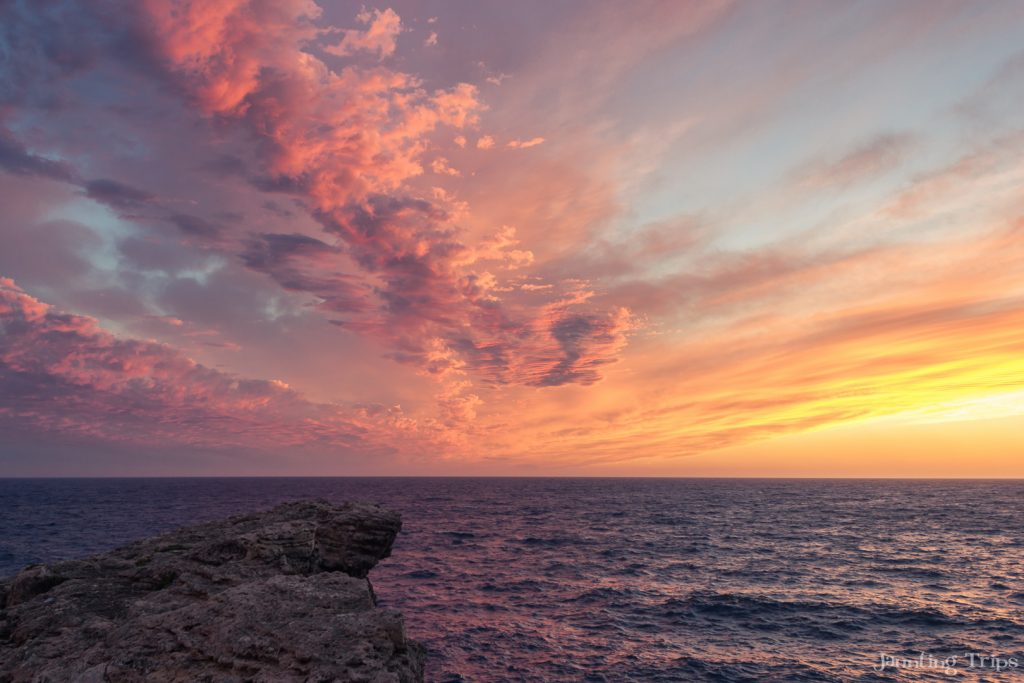 sunset-malta-coast-line